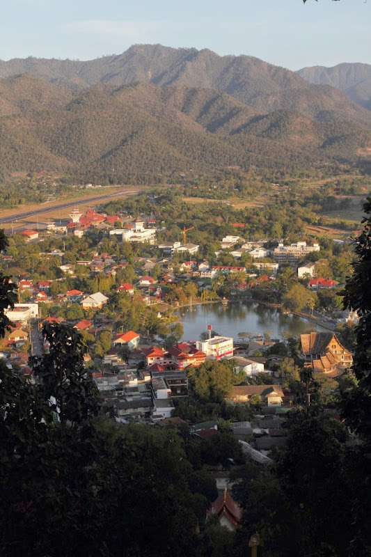 Mae Hong Son Valley during sunset