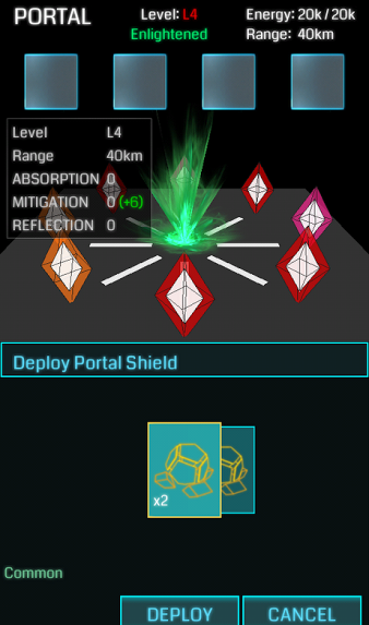Portal Upgrade menu