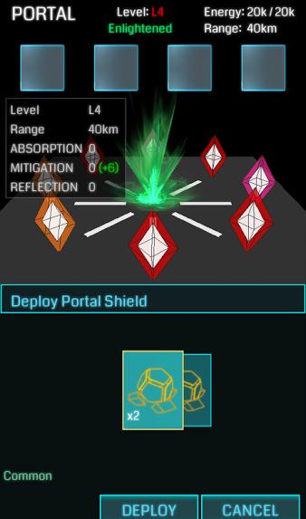 Portal Upgrade menu