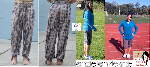 exercise and onzie gear