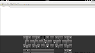 GNOME 3.2 on-screen keyboard