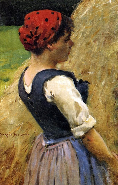 James Carroll Beckwith - Normandy Girl
