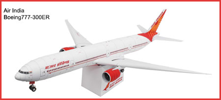 Air India Boeing 777 Papercraft
