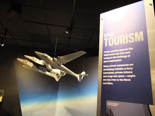 宇宙旅行の展示