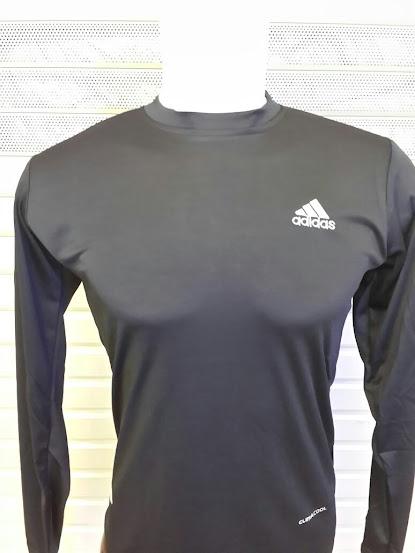 Jersey Baselayer Adidas Hitam Lengan Panjang