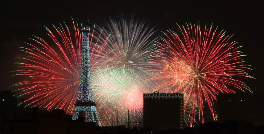 法國國慶煙火 巴黎 艾菲爾鐵塔