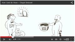 Cartoon: Groß-Britannien und EDF wollen Geld für Atomkraftwerk (Ausschnitt aus Video)