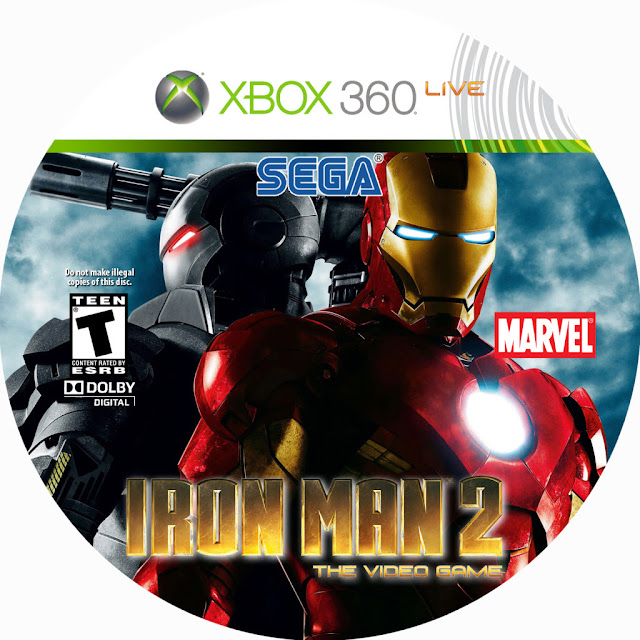 Label Iron Man 2 Xbox 360