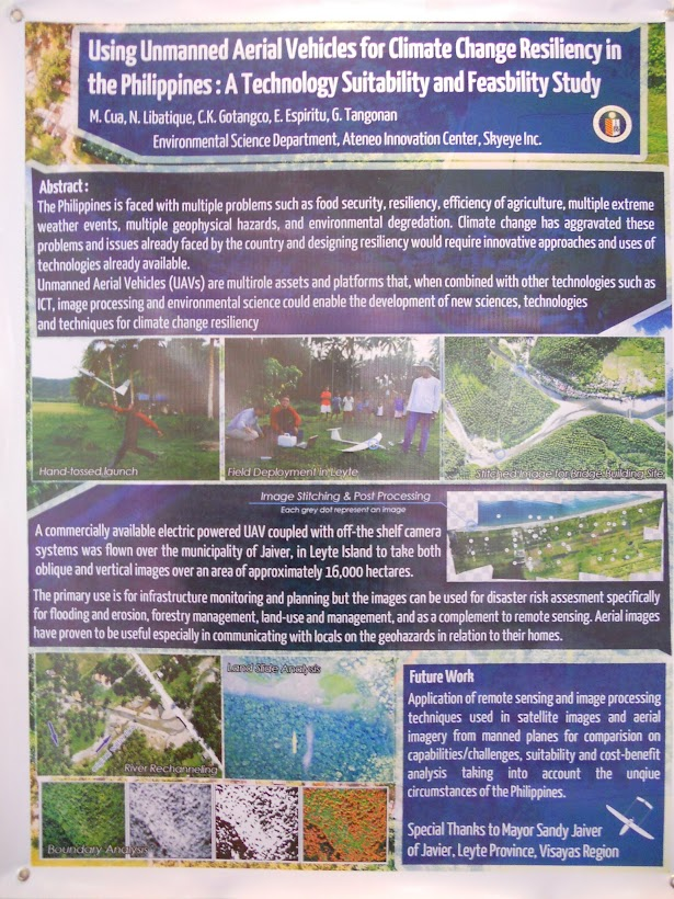 LEAN CC Poster: Using unmanned aerial vehicles for climate change resiliency in the Philippines: a technological suitability and feasibility study