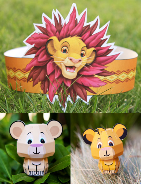 The Lion King Papercraft Simba Nala