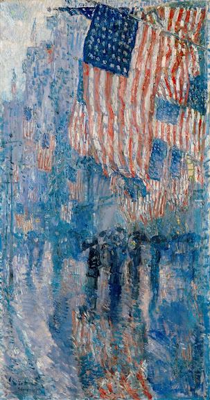 Childe Hassam - The Avenue in the Rain, 1917