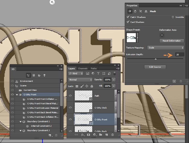 Photoshop - เทคนิคการสร้างตัวอักษร 3D Glowing แบบเนียนๆ ด้วย Photoshop 3dglow22