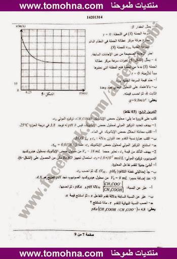 موضوع الفيزياء بكالوريا 2013 شعبة تقني رياضي و رياضيات 27.jpg