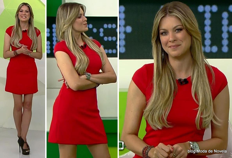 moda do programa Jogo Aberto - look da Renata Fan dia 29 de maio