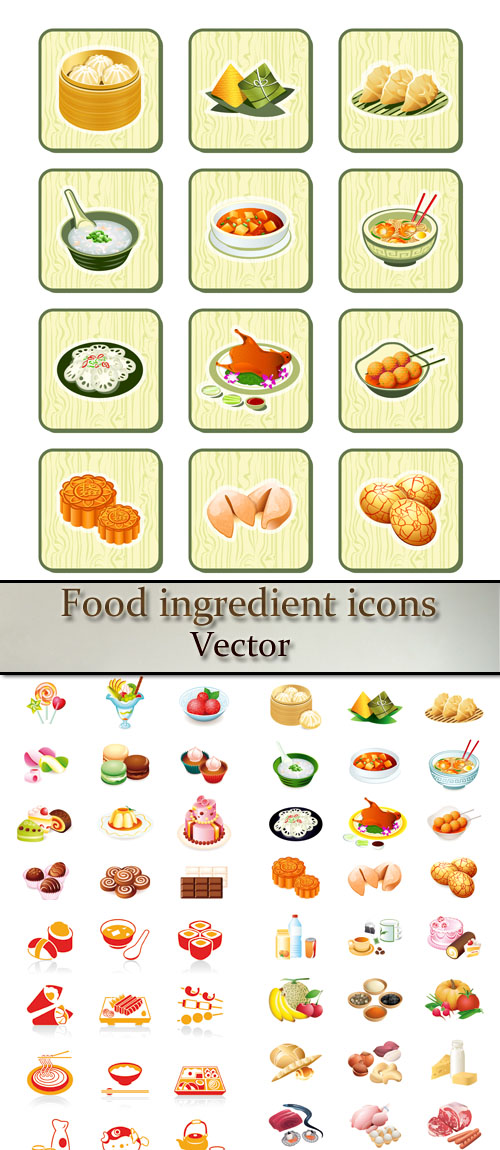 Stock: Food ingredient icons