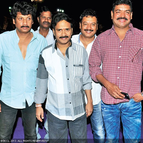 Uttej, Venu Madhav and Shivaji attend the wedding reception party of Naveen and Varsha, held recently in Hyderabad.