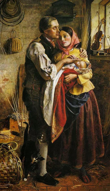 George Elgar Hicks - Blind Basket Maker With His First Child