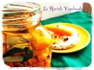 carote sott'olio con tè marocchino alla menta