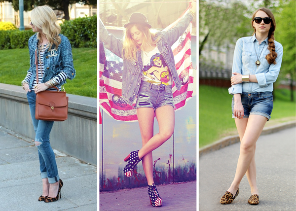 looks com sapatos estampados