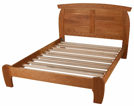 Haiku Platform Bed in Oil & Wax Cherry
