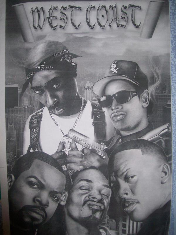 It is a photo of Fan West Coast Drawing