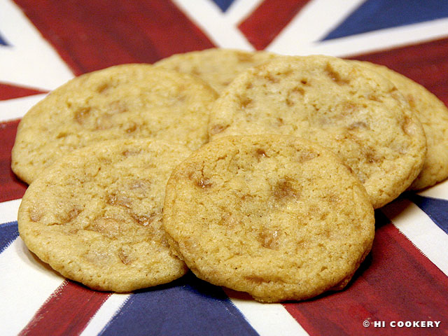 Brickle Drop English Toffee Cookies