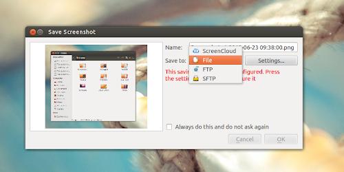 ScreenCloud su Ubuntu 12.04 -  post cattura