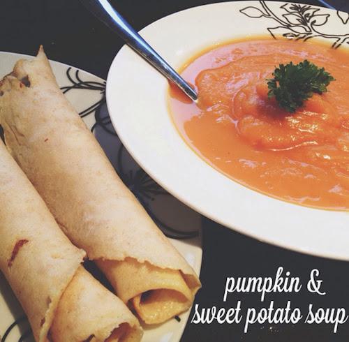 Pumpkin and sweet potato soup recipe