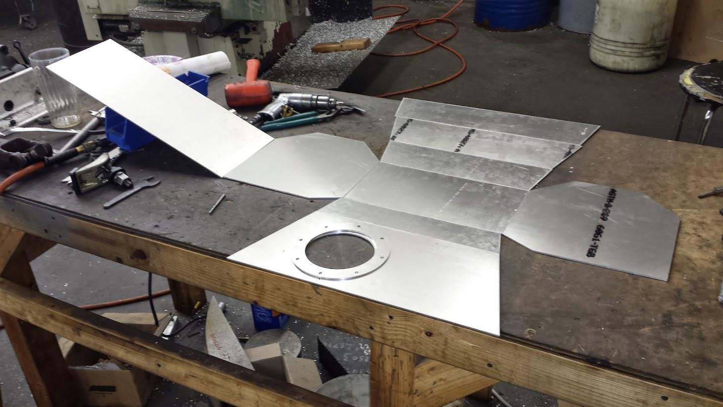 Flat panels of tank