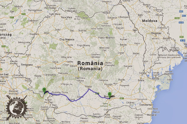 Cum ajungi cu mașina din București la Dubova