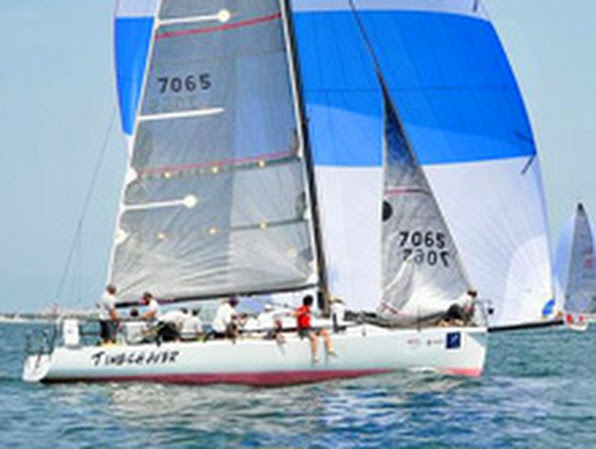 J/125 Timeshaver sailing on Newport Cabo Race
