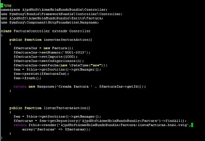 Mostrar registros de tabla MySQL con Symfony y Doctrine