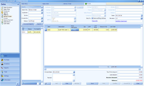 Manual Invoice