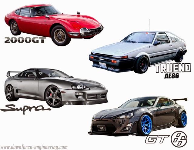 Toyota 2000GT, Toyota Trueno AE86, Toyota Supra, Toyota GT86