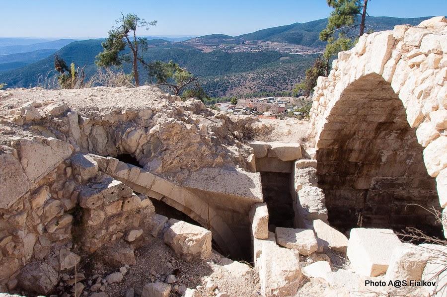 Цфат. Руины крепости крестоносцев. Экскурсия по Верхней Галилее. Гид в Израиле Светлана Фиалкова.