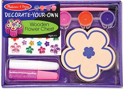 Hộp sản phẩm Bộ tô màu và thiết kế hộp trang sức bông hoa ME3333