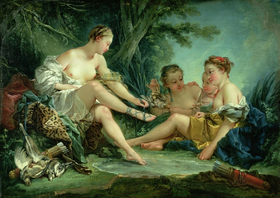 Francois Boucher - Diana after the Hunt