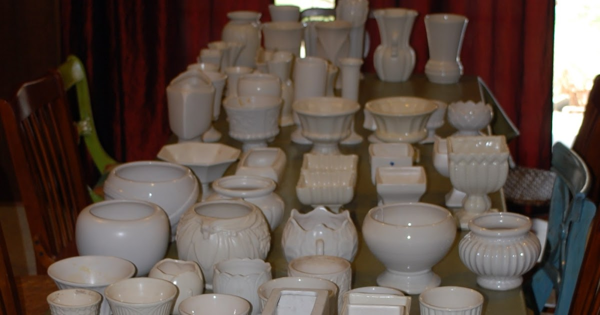 Serial Room Arranger White Mccoy Pottery Collection