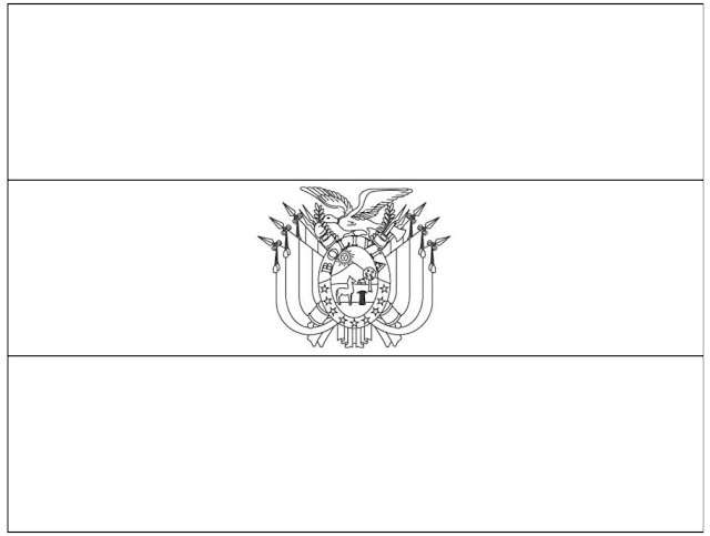 Bolivia Flag Free Coloring Pages Flag Of Bolivia Coloring Page