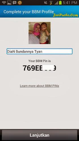 Informasi Mengenai PIN BB pada BBM For Android