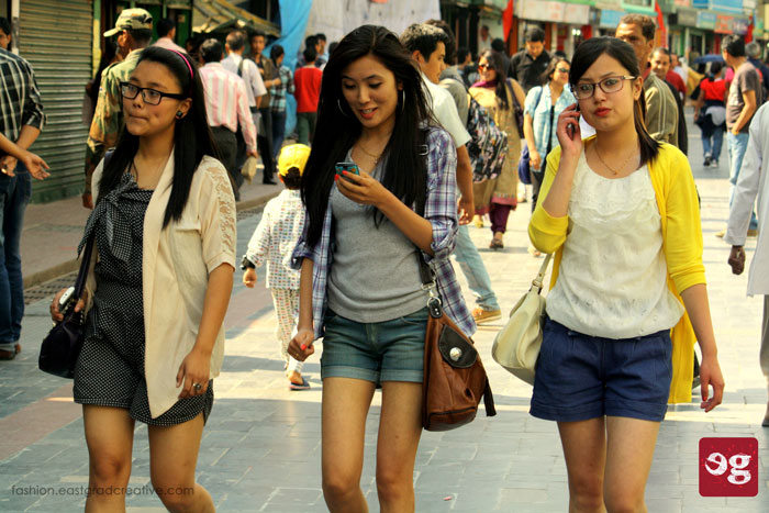Smart girls hanging around Gangtok