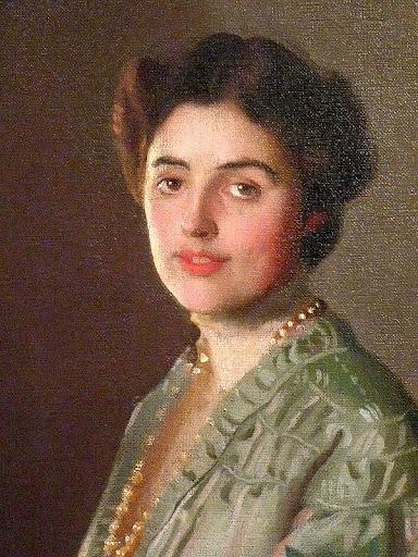 William McGregor Paxton - Portrait of Mrs William Paxton