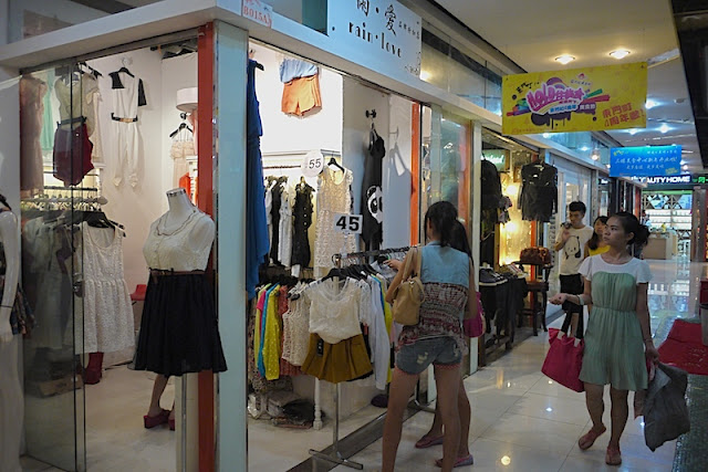 clothing shops at Dongmen in Shenzhen, China