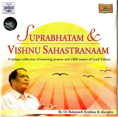 Suprabhatam & Vishnu Sahastranaam By Balamurli Krishna Devotional Album MP3 Songs