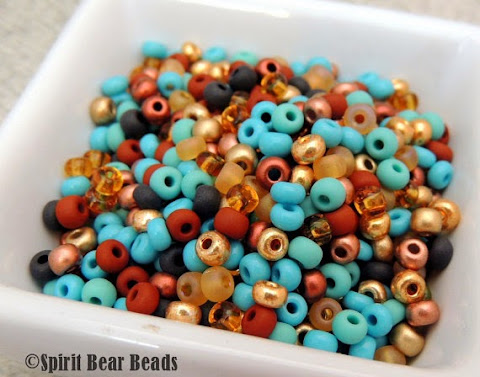 Colorado Morning Custom Seed Bead Mix by Spirit Bear Beads