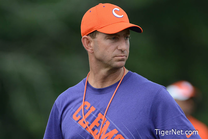 Pre-Season Photos - 2012, Dabo Swinney, Football, Practice