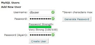 Membuat User Database