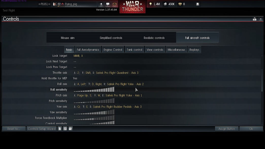 war thunder how to connect joystick