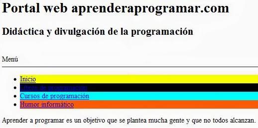 Colores HTML y CSS. RGB decimal o porcentual. Códigos de colores ...