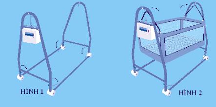 Cách lắp ráp nôi điện em bé Autoru 2 tầng 3 sao